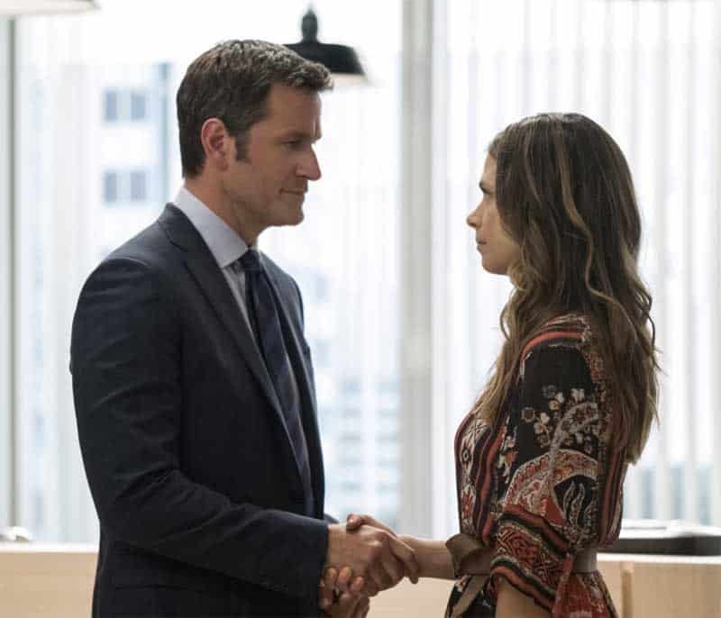 Peter Hermann and Sutton Foster in Younger