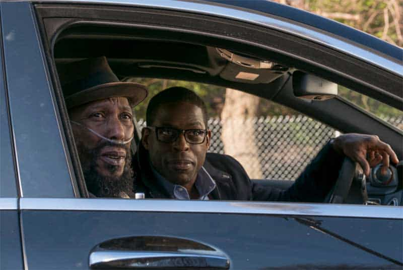 Ron Cephas Jones and Sterling K Brown in This Is Us