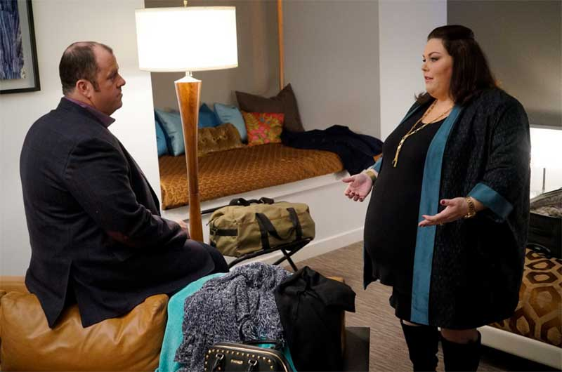 Chris Sullivan and Chrissy Metz in This Is Us