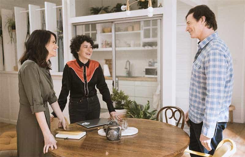Amy Landecker, Alia Shawkat, and Rob Huebel in Transparent