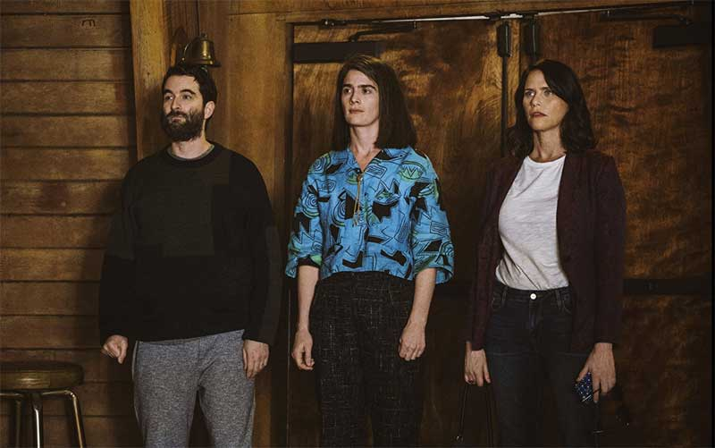 Jay Duplass, Amy Landecker, and Gaby Hoffmann in Transparent
