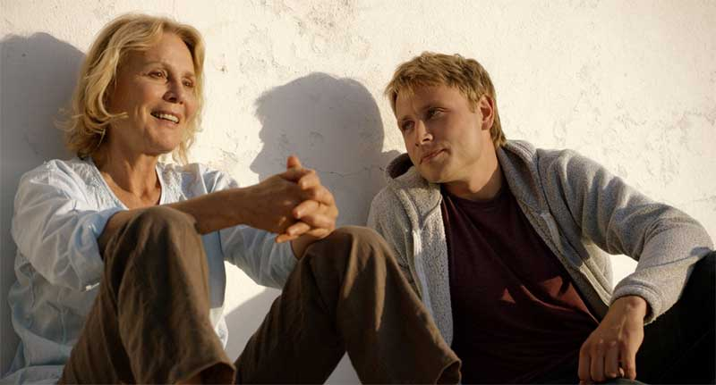Marthe Keller and Max Riemelt in Amnesia