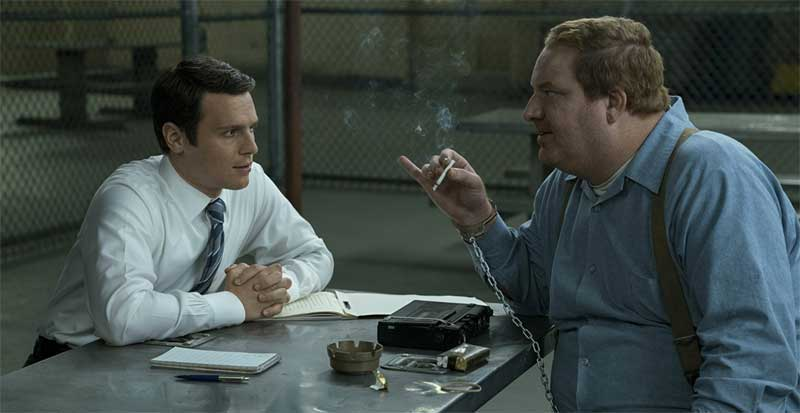 Happy Anderson and Jonathan Groff in Mindhunter