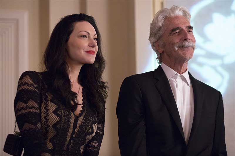 Laura Prepon and Sam Elliott in The Hero