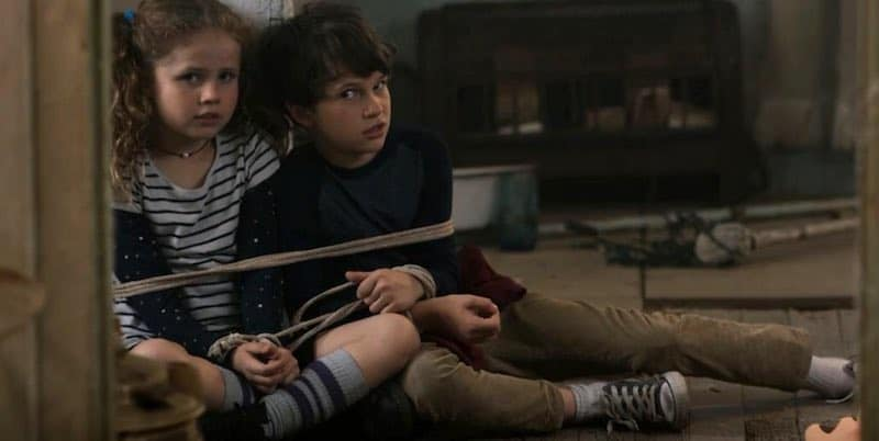 Darby Camp and Gabriel Bateman in Benji