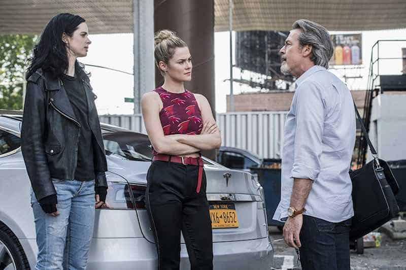 James McCaffrey, Krysten Ritter, and Rachael Taylor in Jessica Jones