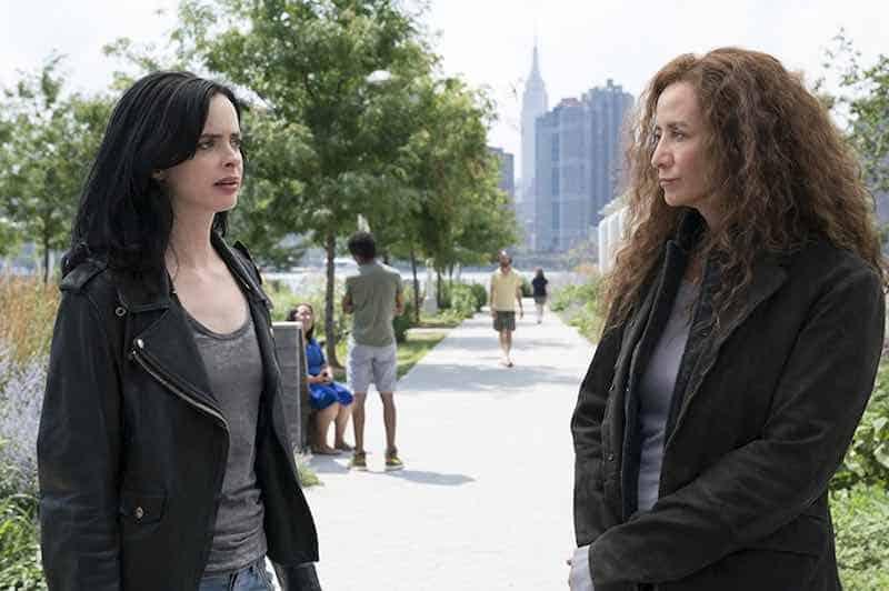Janet McTeer and Krysten Ritter in Jessica Jones