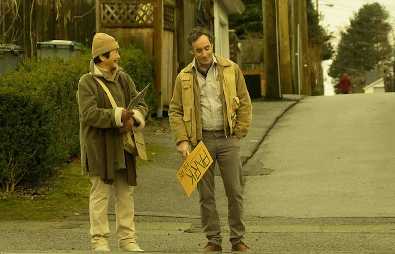 Don McKellar and Pei-Pei Cheng in Meditation Park