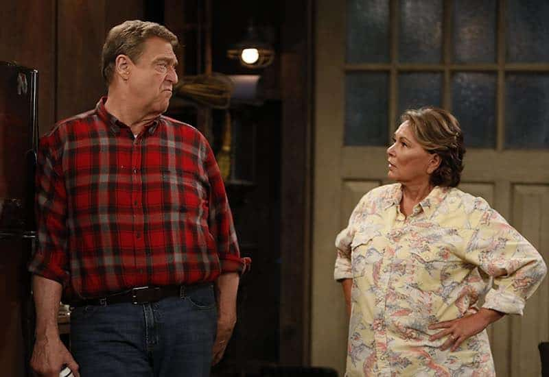 Roseanne Barr and John Goodman in Roseanne