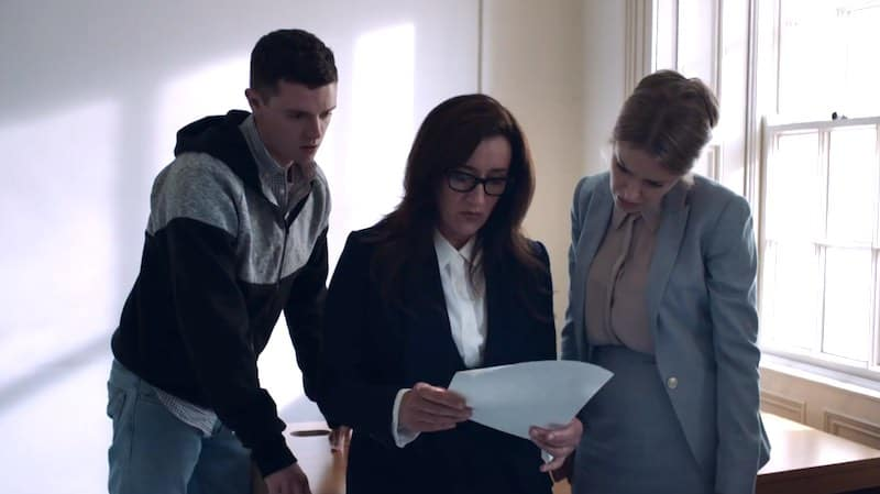 Emmet Byrne, Maria Doyle Kennedy, and Amy Huberman in Striking Out