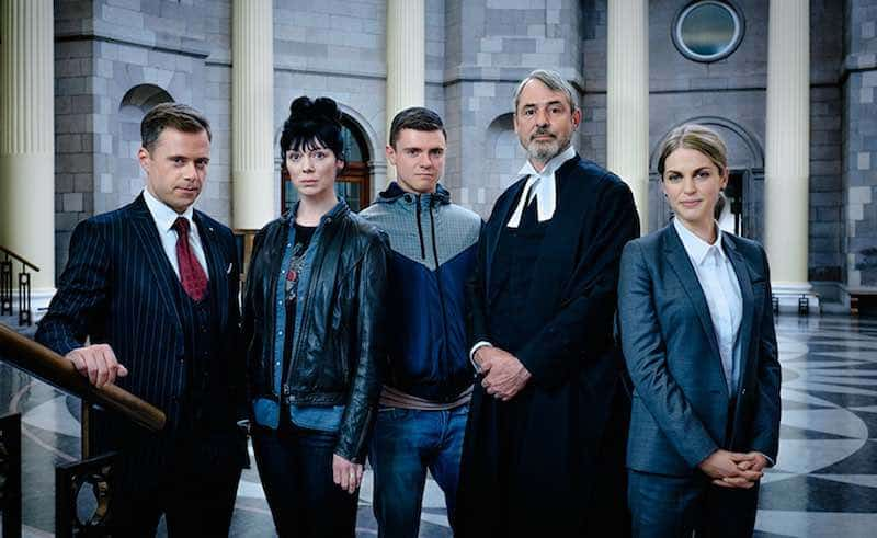 Rory Keenan, Fiona O'Shaughnessy, Emmet Byrne, Neil Morrissey and Amy Huberman in Striking Out