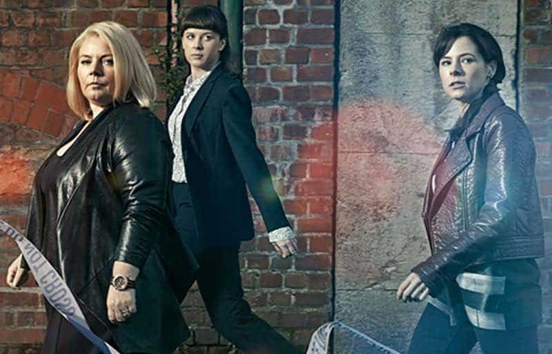 Joanna Scanlan, Alexandra Roach and Elaine Cassidy in No Offence