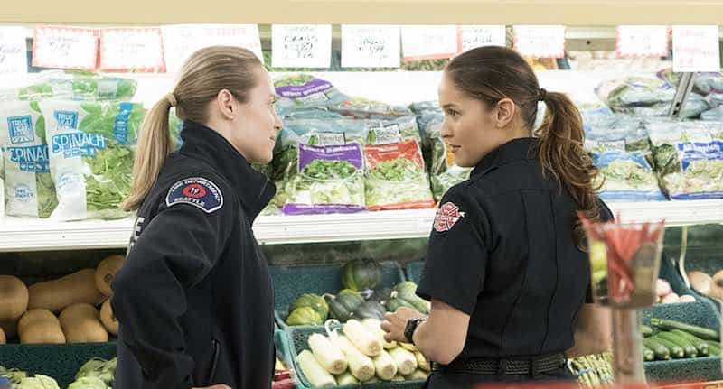 Jaina Lee Ortiz and Danielle Savre in Station 19
