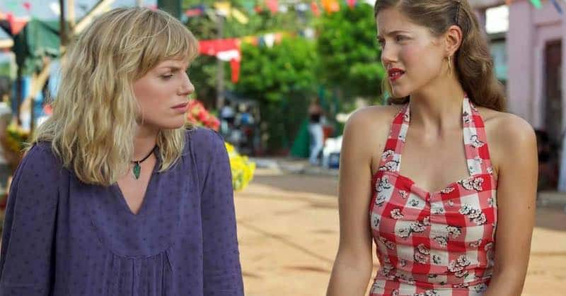Eva Birthistle and Charity Wakefield in Day of the Flowers