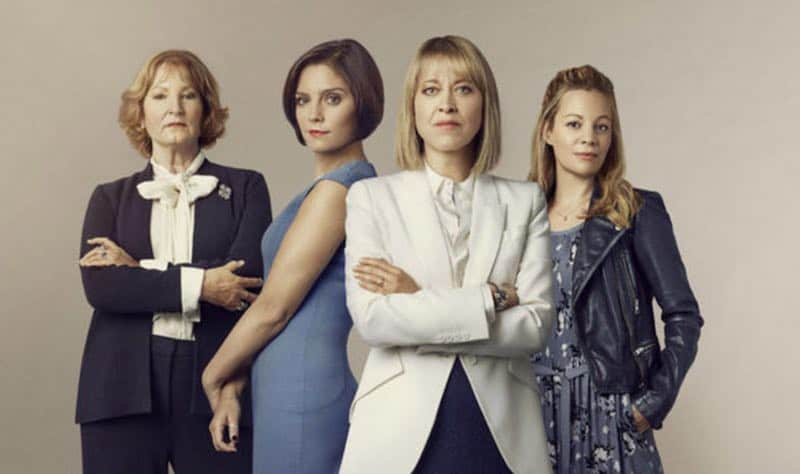 Deborah Findlay, Annabel Scholey, Nicola Walker, and Fiona Button in The Split
