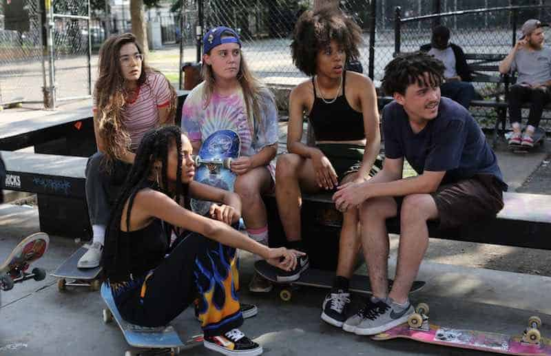 the cast of Skate Kitchen