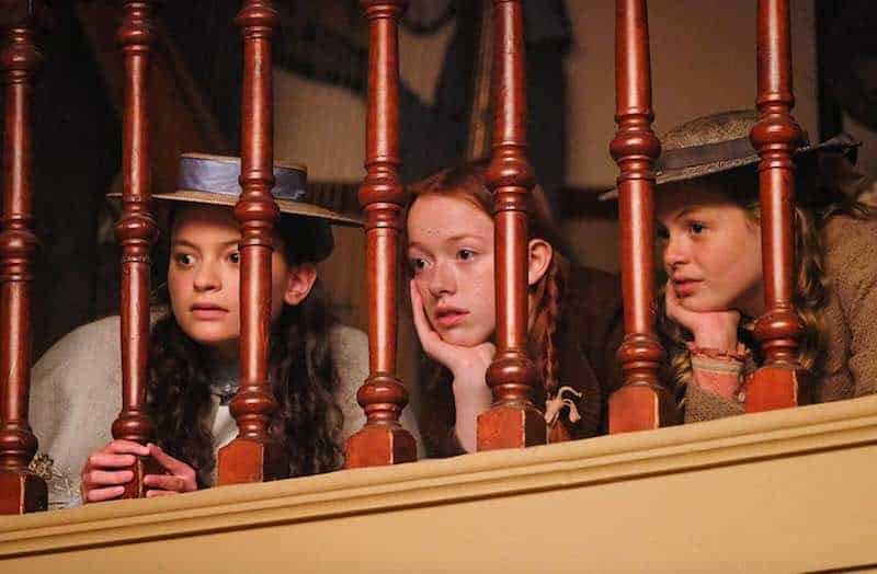 Dalila Bela, Amybeth McNulty and Kyla Matthews in Anne with an E