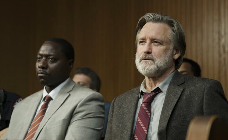 Bill Pullman and Dohn Norwood in The Sinner