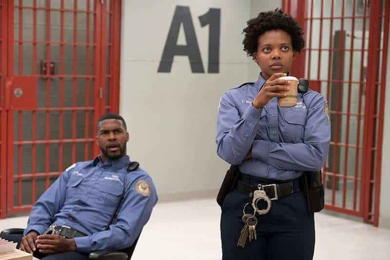 Susan Heyward and Branden Wellington in Orange Is the New Black