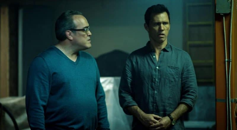 David Zayas and Jeffrey Donovan in Shut Eye