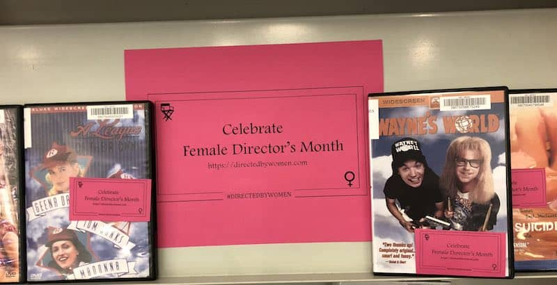 Celebrate Female Directors Month sign