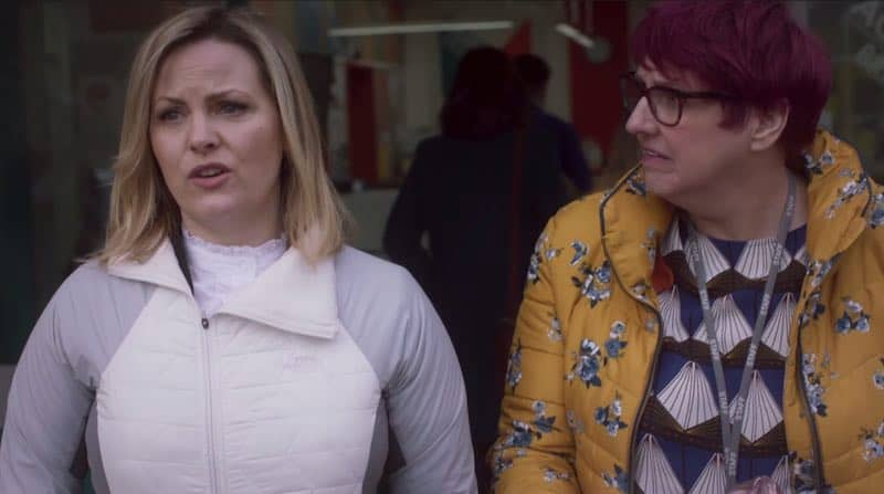 Jo Joyner and Lorraine Cheshire in Ackley Bridge