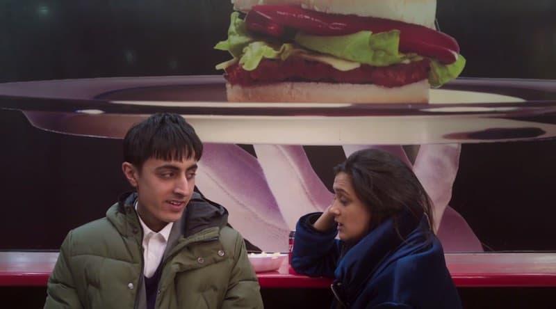 Gurjeet Singh and Amy-Leigh Hickman in Ackley Bridge