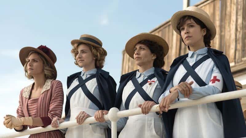 Alicia Borrachero, Verónica Sánchez, Amaia Salamanca, and Anna Moliner in Love in Times of War (Tiempos de guerra)