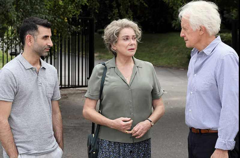Kheiron, André Dussollier, and Catherine Deneuve in Bad Seeds (Mauvaises herbes)