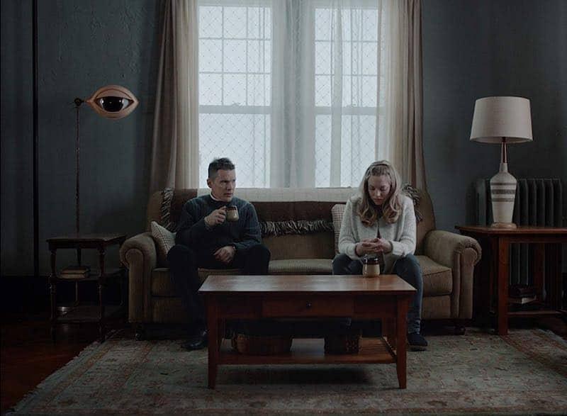 Ethan Hawke and Amanda Seyfried in First Reformed