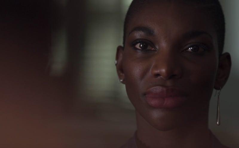 Michaela Coel in Black Earth Rising