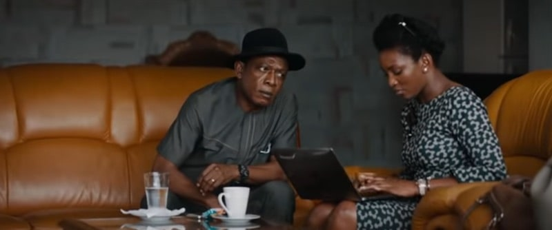 Nkem Owoh and Genevieve Nnaji in Lionheart