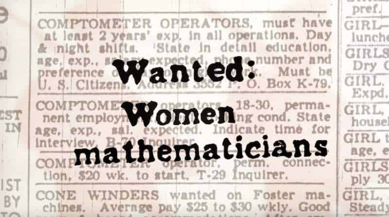 Newspaper ad for women mathematicians