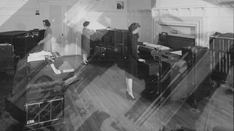 Women computists at work in Top Secret Rosies: The Female Computers of WWII