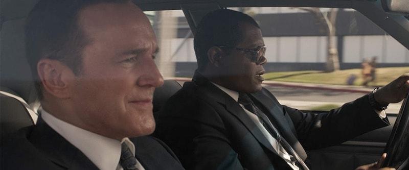 Samuel L. Jackson and Clark Gregg in Captain Marvel