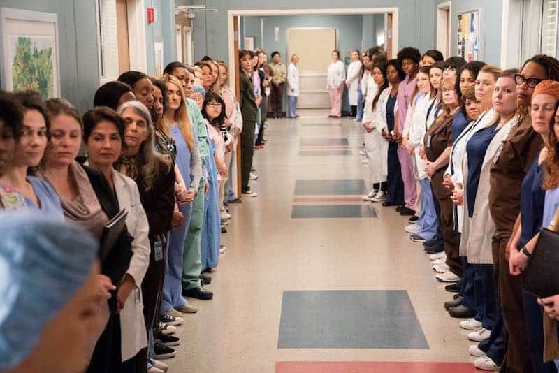 The wall of women on Grey's Anatomy