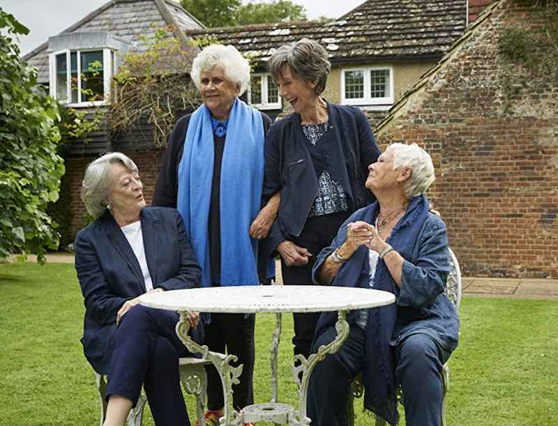 Judi Dench, Maggie Smith, Eileen Atkins, and Joan Plowright in Tea with the Dames