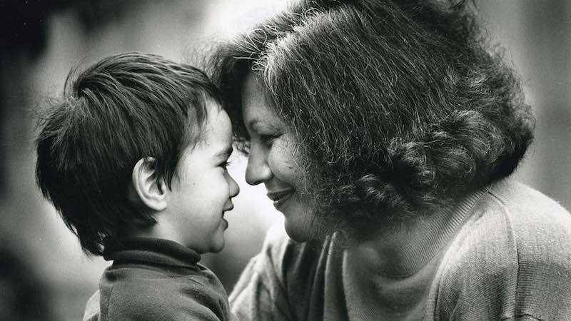 Merata Mita and her son