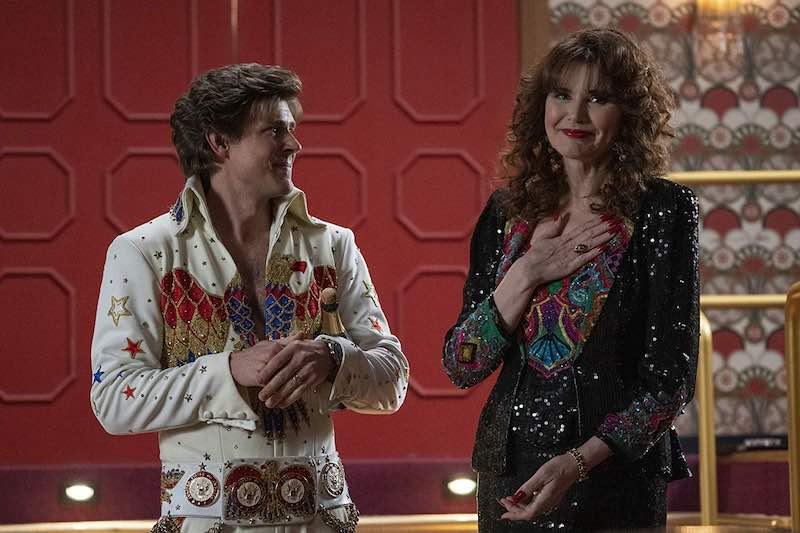 Geena Davis and Chris Lowell in GLOW
