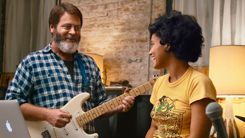 Nick Offerman and Kiersey Clemons in Hearts Beat Loud