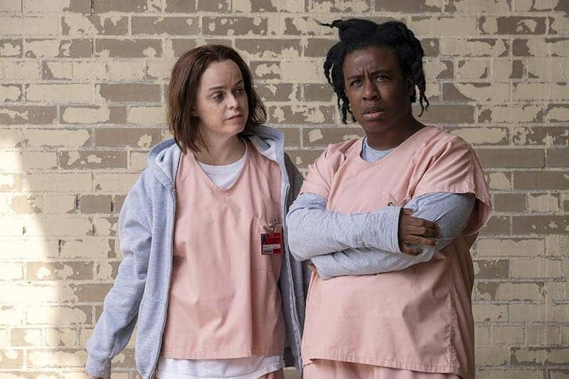 Taryn Manning and Uzo Aduba in Orange Is the New Black