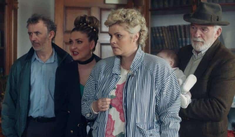 Kathy Kiera Clarke, Ian McElhinney, Tara Lynne O'Neill, and Tommy Tiernan in Derry Girls