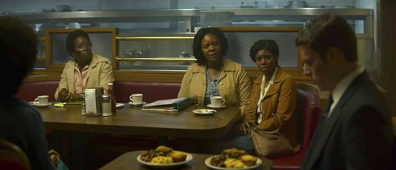 June Carryl, Sierra Aylina McClain, Jonathan Groff, Crystal Lee Brown, and Andrene Ward-Hammond in Mindhunter