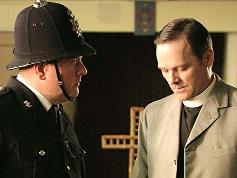 Alun ap Brinley and Mark Heap in The Indian Doctor
