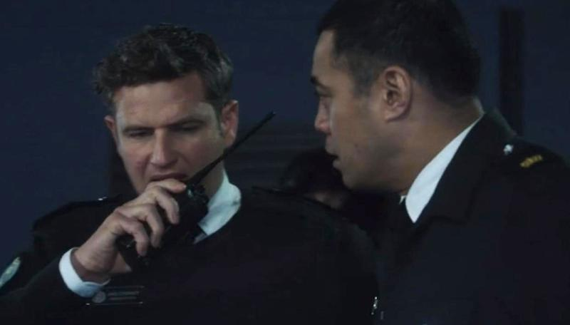 Bernard Curry and Robbie Magasiva in Wentworth