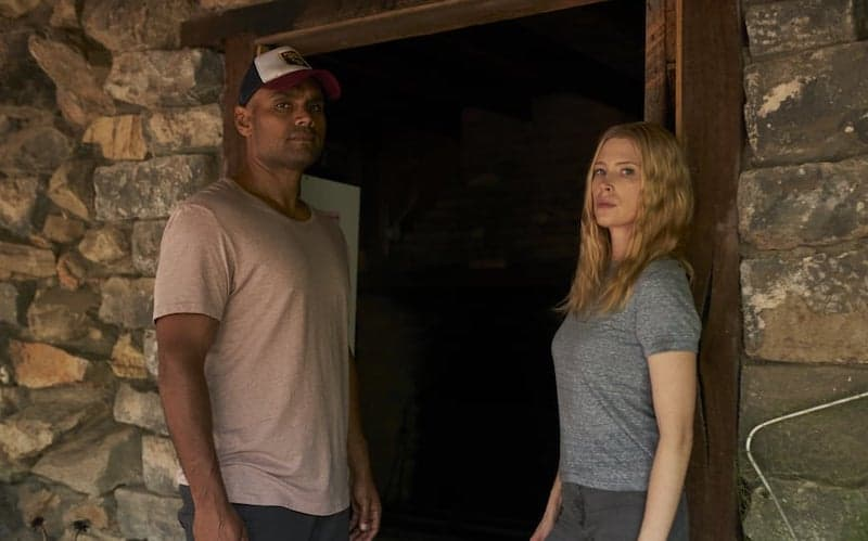 Rob Collins and Emma Booth in Glitch
