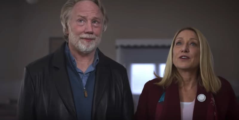 """Patricia Wettig and Timothy Busfield in Dolly Parton's Heartstrings """"Sugar Hill"""""""