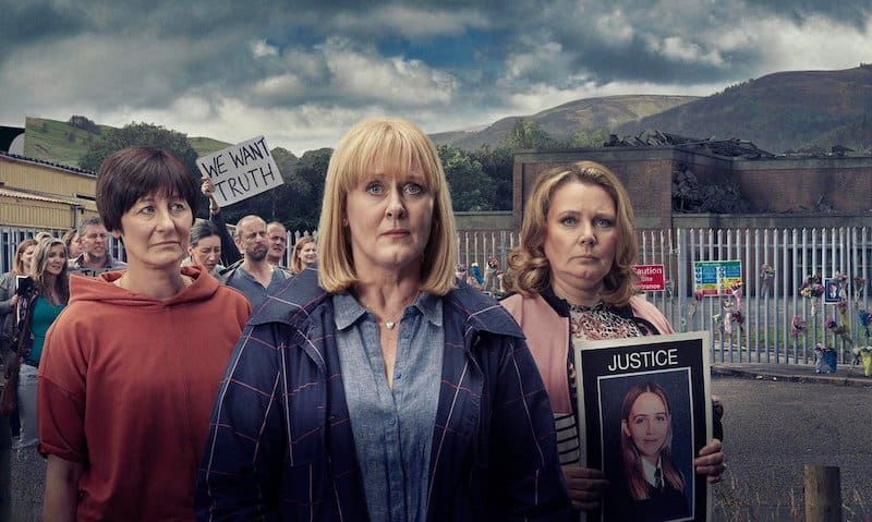 Eiry Thomas, Sarah Lancashire, and Joanna Scanlan in The Accident