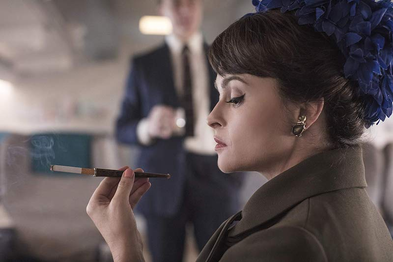 Helena Bonham Carter and Ben Daniels in The Crown