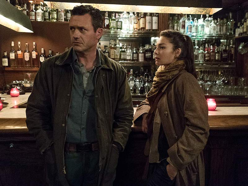 Jason O'Mara and Alexa Davalos in The Man in the High Castl